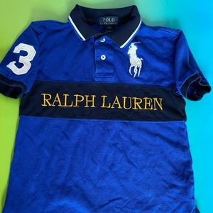 Polo RL Boys (8) Blue Polo Shirt